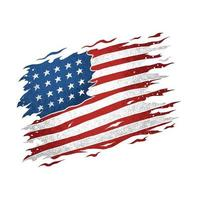 the united states american flag is torn and looks really cool vector