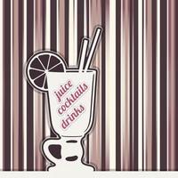Juice cocktails drinks vector
