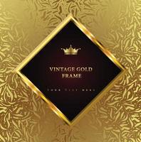 Golden Vintage Frame vector