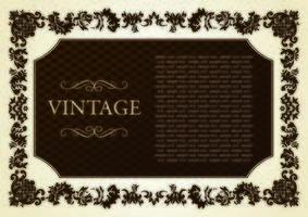 vintage card background vector
