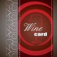 Wine Menu Card vector