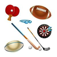 Sport icons. Bicycle, tennis, chess, billiards, various sports. Sport set. Vector isolated illustration