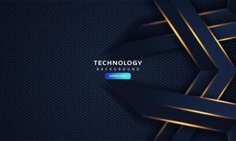 abstract dark blue frame luxury design concept innovation background vector