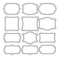 Set of frames border design vintage vector