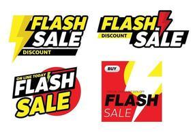 flash sale banner promotion tag design for marketing vector