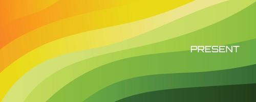 Soft dynamic green screen wallpaper template background vector