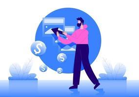 pay per click concept illustration vector