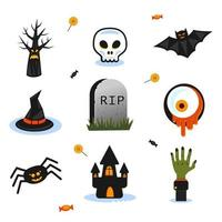 Halloween holiday objects vector