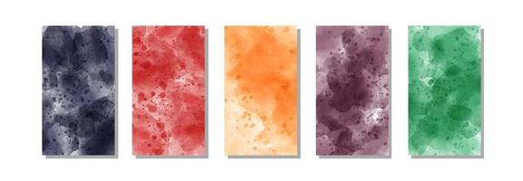 set of bright colorful watercolor background for poster, brochure or flyer poster vector