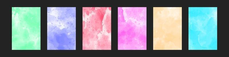 set of bright colorful watercolor background for poster, brochure or flyer vector