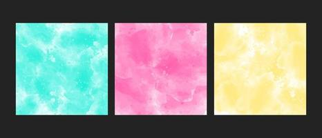 Big set of bright colorful watercolor background for poster, brochure or flyer vector