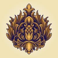 Kingdom Crown Symbol Ornate Logo Vintage vector
