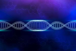 dna replication blue background photo