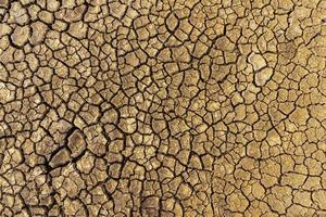 The concept of natural drought of the environment on Earth dry soil, cracked soil with soil erosion Becomes red that is not agricultural photo