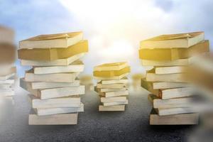 división de libros y plantillas educativas para el desarrollo del mundo de la educación foto