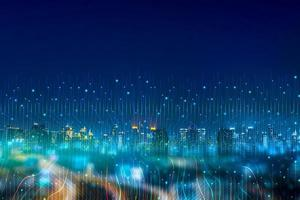 Intelligent city networks and communication in the age of AI wireless communication on the world photo