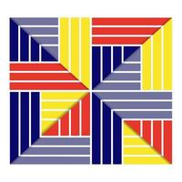 abstract colorful rectangle design vector