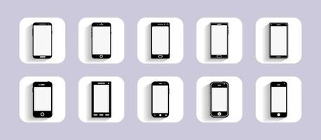 Mobile Devices Icons for user interface design and website. Flat design. Vector illustration