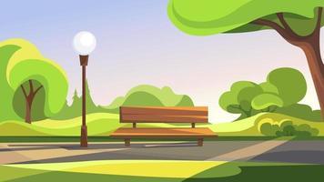 Summer public park. vector