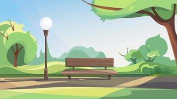 Spring public park. vector
