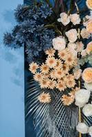 Wedding backdrop background,  flower decoration photo