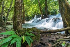 Huai Mae Khamin waterfall at Kanchanaburi , Thailand , beautiful waterfall photo