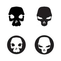 bone Crossbones death skull, danger or poison flat icon for apps and websites vector
