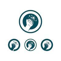 virus corona virus vector and mask design logo viral