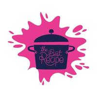 olla de cocina pop vector
