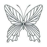 pretty butterfly icon vector