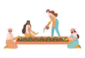 group of planters vector