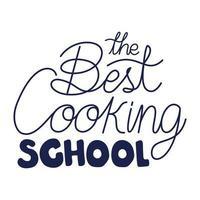 cooking school poster vector