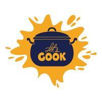 cooking pot pop vector