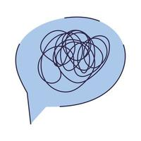 blue text bubble vector