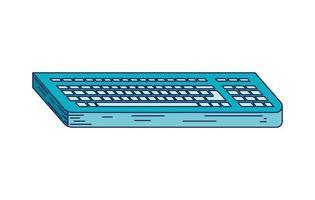 desktop keyboard isolated vector
