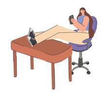 woman on chair vector