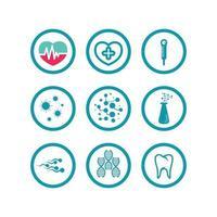 health logo care, medical, medicine, meditation and hospital design icon vector