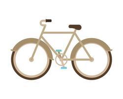 Bicicleta de oro sobre un fondo blanco. vector