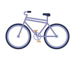 Bicicleta morada sobre un fondo blanco. vector