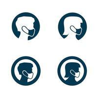 virus corona virus vector and mask design logo viral vector and design icon symbol