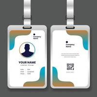 professional corporate id card template with mockup vector