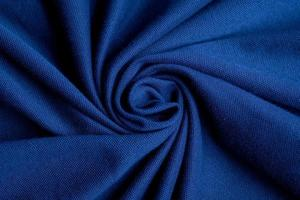 Blue fabric texture background, abstract, closeup texture of cloth photo