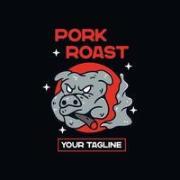 Pig drawing pork vector
