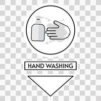 Hand washing facilities area vector