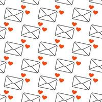A letter with a declaration of love Seamless pattern Abstract love symbol The message vector