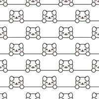Seamless pattern happy dog in beautiful style Wallpaper wrapping paper textile print vector