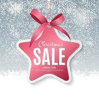 Christmas and New Year Sale Gift Voucher, Discount Coupon Template Vector Illustration