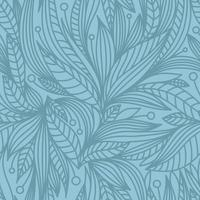 BLUE BACKGROUND WITH PLANT ELEMENTS vector