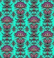 BEAUTIFUL FLOWERS ON A TURQUOISE BACKGROUND vector