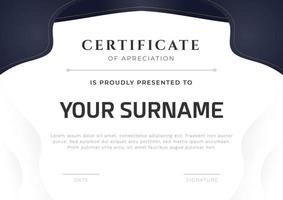 Elegant certificate design template. Luxury shape frame with clean background. Vector ready to print template.